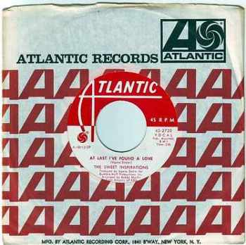 SWEET INSPIRATIONS - AT LAST I'VE FOUND A LOVE - ATLANTIC DEMO