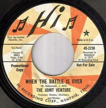 JOINT VENTURE - WHEN THE BATTLE IS OVER - HI dj