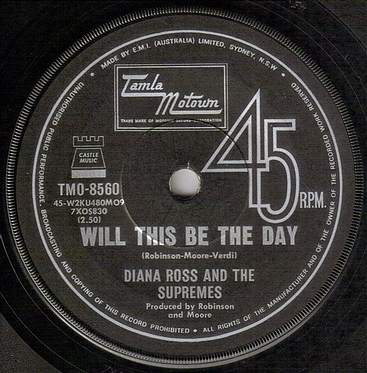 DIANA ROSS & SUPREMES - WILL THIS BE THE DAY - TMO 8560