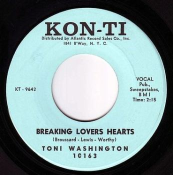 TONI WASHINGTON - BREAKING LOVERS HEARTS - KON-TI