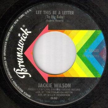 JACKIE WILSON - LET THIS BE A LETTER - BRUNSWICK