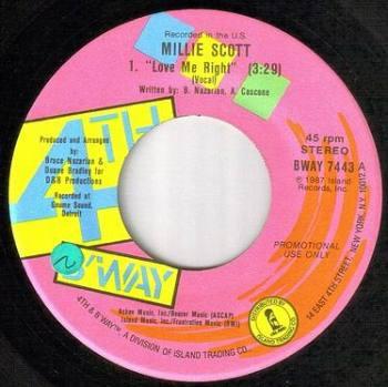 MILLIE SCOTT - LOVE ME RIGHT - 4TH & BROADWAY