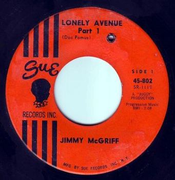 JIMMY McGRIFF - LONELY AVENUE - SUE