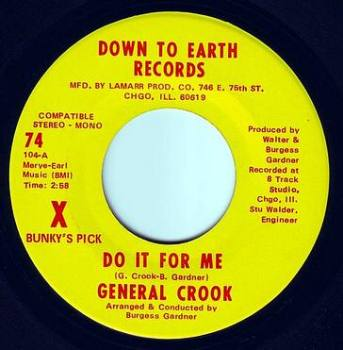GENERAL CROOK - DO IT FOR ME - DOWN TO EARTH