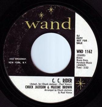 CHUCK JACKSON & MAXINE BROWN - C.C. RIDER - WAND DEMO