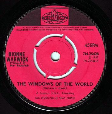 DIONNE WARWICKE - THE WINDOWS OF THE WORLD - PYE
