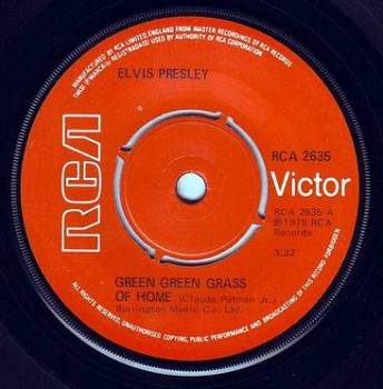 ELVIS PRESLEY - GREEN GREEN GRASS OF HOME - RCA