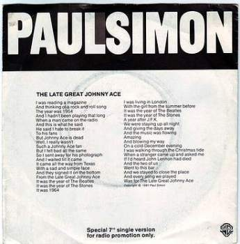 PAUL SIMON - THE LATE GREAT JOHNNY ACE - WB DEMO