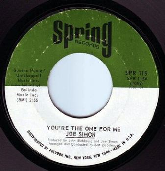 JOE SIMON - YOU'RE THE ONE FOR ME - SPRING