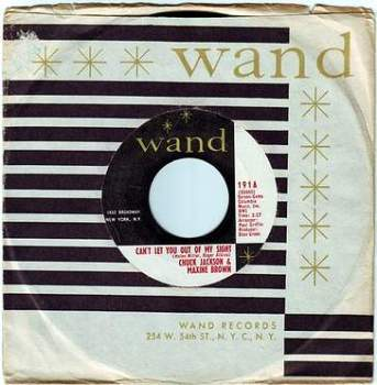 CHUCK JACKSON & MAXINE BROWN - CAN'T LET YOU OUT OF MY SIGHT - WAND