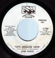 EARL DUKES - LETS LEGALIZE LOVE - SSS INTER DEMO
