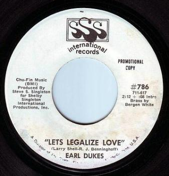 EARL DUKES - LETS LEGALIZE LOVE - SSS INTER DEMO