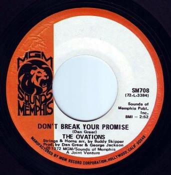 OVATIONS - DON'T BREAK YOUR PROMISE - MGM/SOUNDS OF MEMPHIS