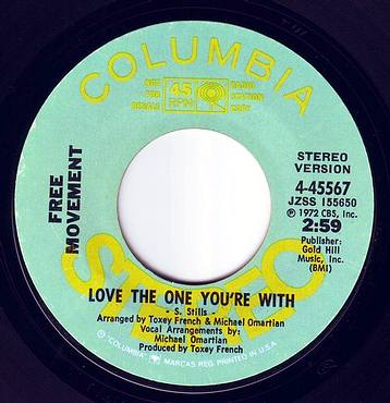 FREE MOVEMENT - LOVE THE ONE YOU'RE WITH - COLUMBIA DEMO