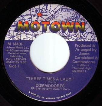 COMMODORES - THREE TIMES A LADY - MOTOWN