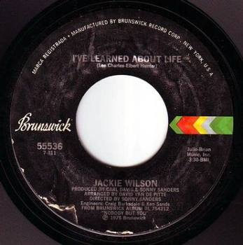 JACKIE WILSON - I'VE LEARNED ABOUT LIFE - BRUNSWICK