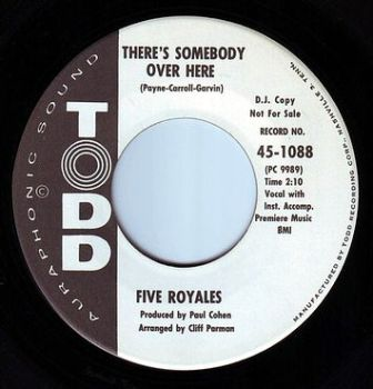 FIVE ROYALES - THERE'S SOMEBODY OVER HERE - TODD DEMO