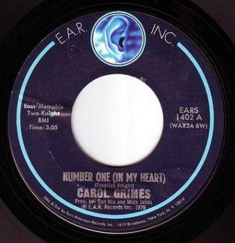 CAROL GRIMES - NUMBER ONE (IN MY HEART) - EAR INC