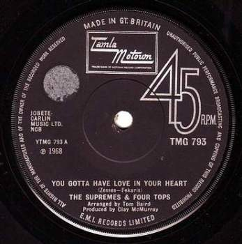 SUPREMES & FOUR TOPS - YOU GOTTA HAVE LOVE IN YOUR HEART - TMG 793