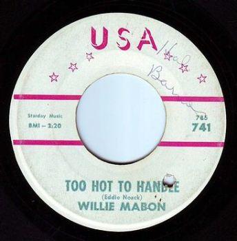 WILLIE MABON - TOO HOT TO HANDLE - USA