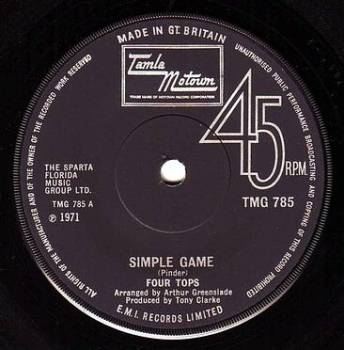 FOUR TOPS - SIMPLE GAME - TMG 785