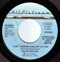 BROOK BENTON - CAN'T TAKE MY EYES OFF OF YOU - ALL PLATINUM
