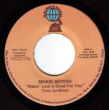 BROOK BENTON - MAKIN' LOVE IS GOOD FOR YOU - OLDE WORLD
