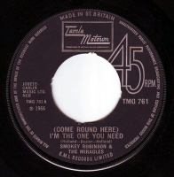 SMOKEY ROBINSON & THE MIRACLES - COME ROUND HERE - TMG 761