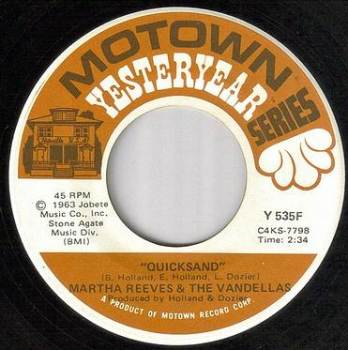 MARTHA REEVES & THE VANDELLAS - QUICKSAND - MOTOWN YY