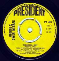 GEORGE & GWEN McCRAE - MECHANICAL BODY - PRESIDENT