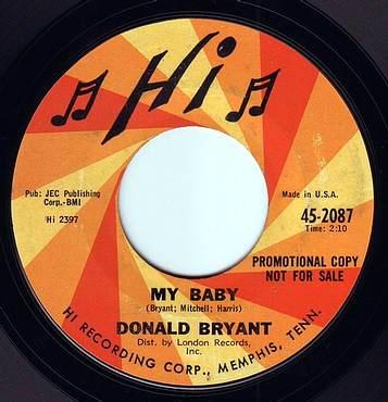 DONALD BRYANT - MY BABY - HI DEMO