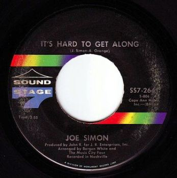 JOE SIMON - IT'S HARD TO GET ALONG - SS7