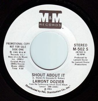 LAMONT DOZIER - SHOUT ABOUT IT - M&M DEMO