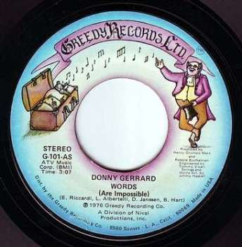 DONNY GERRARD - WORDS (Are Impossible) - GREEDY