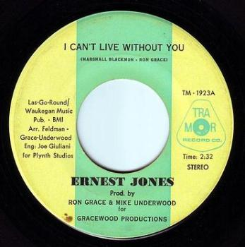 ERNEST JONES - I CAN'T LIVE WITHOUT YOU - TRA MOR