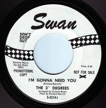 THREE DEGREES - I'M GONNA NEED YOU - SWAN DEMO