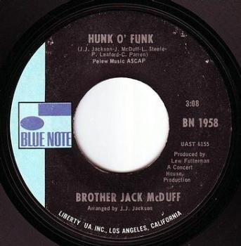 BROTHER JACK McDUFF - HUNK O' FUNK - BLUE NOTE