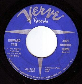 HOWARD TATE - AIN'T NOBODY HOME - VERVE