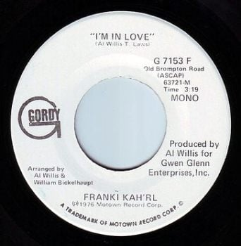 FRANKIE KAH'RL - I'M IN LOVE - GORDY DEMO