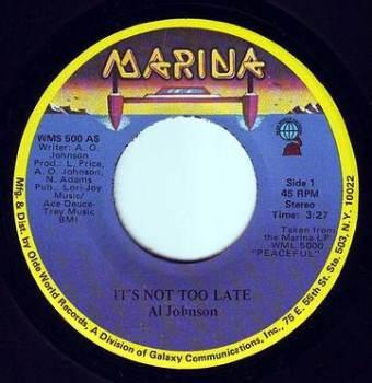 AL JOHNSON - IT'S NOT TOO LATE - MARINA