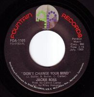 JACKIE ROSS - DON'T CHANGE YOUR MIND - FOUNTAIN