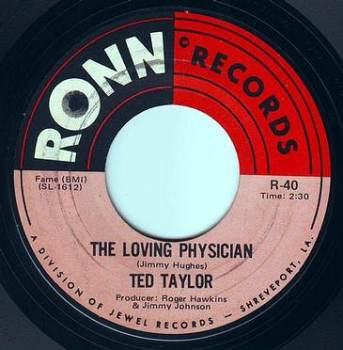 TED TAYLOR - THE LOVING PHYSICIAN - RONN