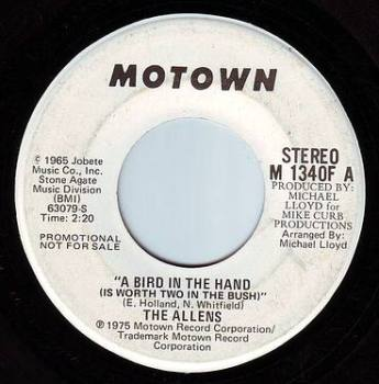 ALLENS - A BIRD IN THE HAND - MOTOWN DEMO