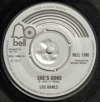 LOU RAWLS - SHE'S GONE - BELL