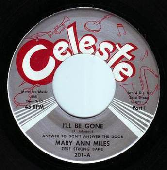 MARY ANN MILES - I'LL BE GONE - CELESTE