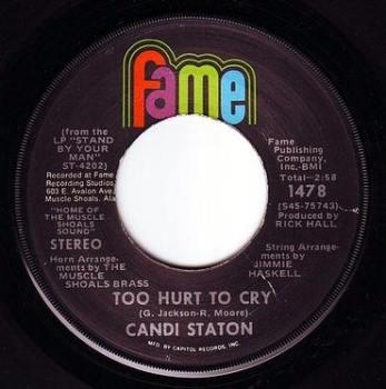 CANDI STATON - TOO HURT TO CRY - FAME