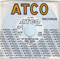 MARY WELLS - (Hey You) SET MY SOUL ON FIRE - ATCO DEMO