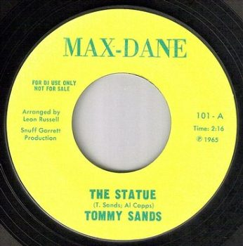 TOMMY SANDS - THE STATUE - MAX-DANE