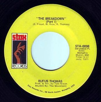 RUFUS THOMAS - THE BREAKDOWN - STAX