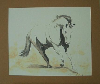 Horse Running Mounted